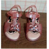 Sandalia Minnie rosê com brilho - 21 - Grendene