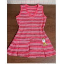 Vestido rosa listradinho - 4 anos - Anjos baby