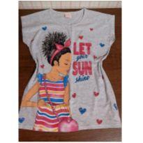 T shirt charmosa com brilho - 10 anos - Yeaqp