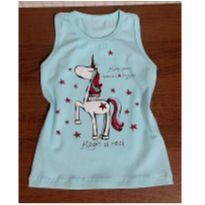 Blusa azul de unicornio - 3 anos - Hlerinha