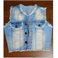 Colete jeans com pedrarias - 8 anos - Jeans