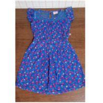 Vestido florzinhas e tule - 3 anos - marisa