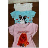 Trio de blusinhas fofas - 3 anos - Pulla Bulla e Outras