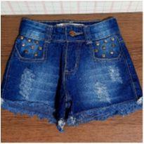 Shorts jeans lindo com tachas - 6 anos - Black Jeans