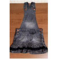 Salopete jeans com rendinha - 6 anos - liks