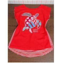 T-shirt fofa tartaruga - 4 anos - Projeto Tamar