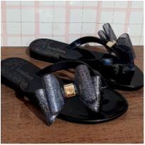 Sandália laço com brilho - 25 - Luelua