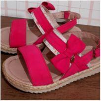 Sandália charmosa lacinho de lado - 23 - City Shoes