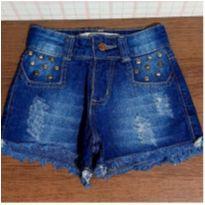 Shorts jeans estiloso tachinhas - 6 anos - Black Jeans