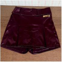 Shorts saia courino vinho - 8 anos - Medela