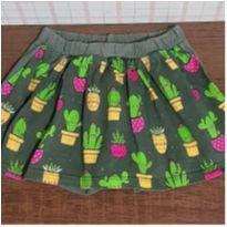 Saia shorts cactos e abacaxi - 3 anos - Kamillus