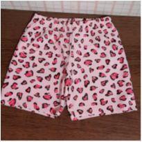Shorts cotton oncinha - 6 anos - Lik Kids
