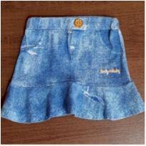 Saia cotton jeans confortavel - 3 anos - Luky & Buky