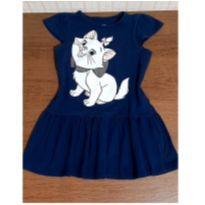 Vestido Gatinha Marie azul marinho - 4 anos - Disney