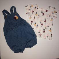 Macacão + blusa baby menina - 0 a 3 meses - Carter`s