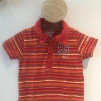 Camiseta com gola super estilosa da marca francesa Orchestra - 6 a 9 meses - Orchestra - France