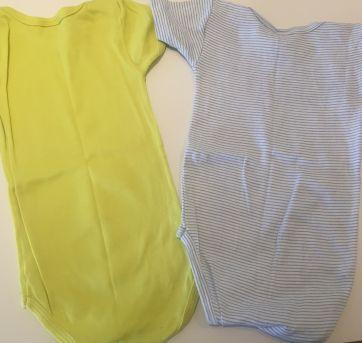 kit 2 bodies (Petit Bateau e Absorba) - 12 a 18 meses - Petit Bateau e Absorba