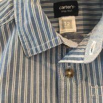 Camisa social Carter`s - 9 a 12 meses - Carter`s