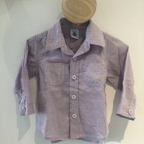 Camisa lilás Petit Bateau - 6 meses - Petit Bateau