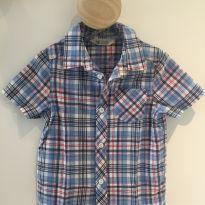 Camisa xadrez manga curta - 18 a 24 meses - H&M
