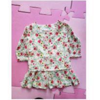 Vestido manga longa babado - 12 a 18 meses - Baby Club