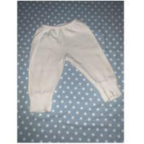 Calça branca P - 3 a 6 meses - Sem marca