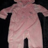Macacão gatinha rosa - 3 a 6 meses - yoyo Baby