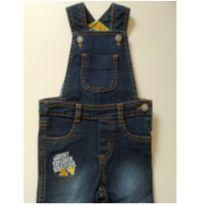 Jardineira Jeans masculina - 6 a 9 meses - PUC