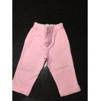Calça em Sarja - cor Rosa - Ralph Lauren - 12M - 1 ano - Ralph Lauren