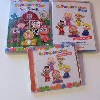 Dvd Pequerruchos 1 e 2 + cd com as cantigas - Sem faixa etaria - Não informada