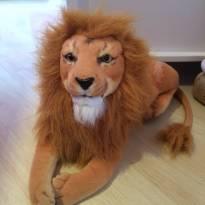 Pelúcia Safari real - leão 65 cm - Sem faixa etaria - Não informada