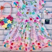 Vestido Fashion Jardins - 6 anos - Nacional