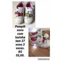 Tênis Pampili luzinha e apliques - 27 - Pampili