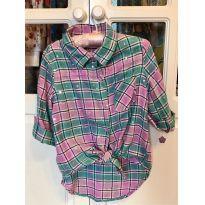 Camisa Xadrez com estrelinhas - 6 anos - Route 66 - USA