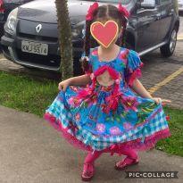 Vestido Caipira Boneca TAM 6-8 - 6 anos - Nacional