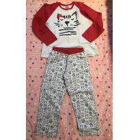 Pijama flanelado Gatinha - 6 anos - Have Fun