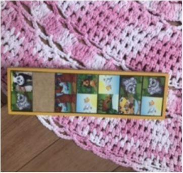 Domino de madeira bichinhos - Sem faixa etaria - Não informada