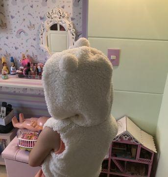 Colete peludinho ursinha - 8 anos - Nacional