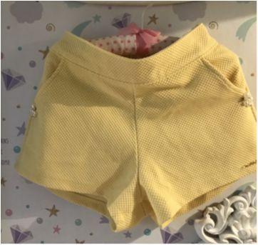 Conjunto Off e amarelo Clube da Malha - 6 anos - Miss Trm