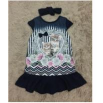 Vestido azul lindoooo - 6 anos - Infanti