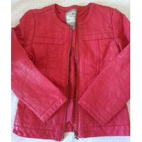 Jaqueta de couro pink - 4 anos - Hering Kids