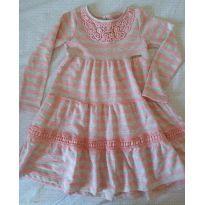 Vestido de inverno cinza e rosa antigo - 4 anos - Momi