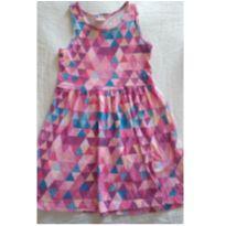 Vestido Verão Rosa Estampa Geométrica - 6 anos - Brandili