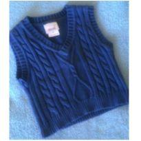 Colete em malha de lã azul - 3 a 6 meses - Buá