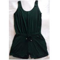 Macaquinho gestante recata verde escuro - M - 40 - 42 - d Rafa moda gestante