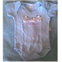 Body manga curta azul claro - cachorrinhos - 6 meses - Baby fashion