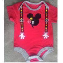Body Mickey suspensório - 6 meses - Disney