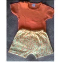 Conjunto de Body e Shorts - Girafa - 6 meses - Gijo Kids