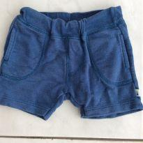 Shorts moletom azul - 3 a 6 meses - PUC