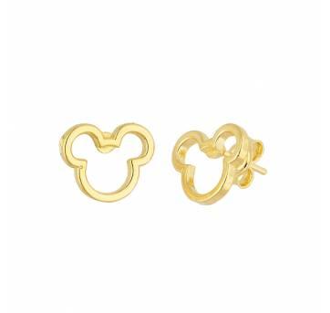 Brinco Mickey banhado a ouro 18k - Sem faixa etaria - Não informada